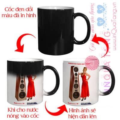 Coc den doi mau  Heat Sensitive Magic Mugs