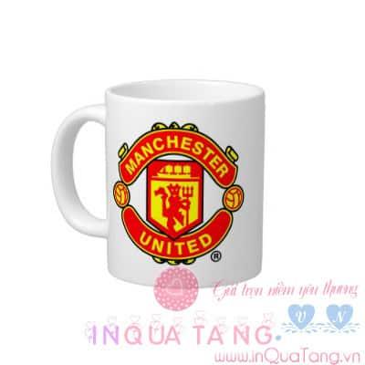 Cốc trắng in logo MU, cốc logo đội Manchester United