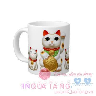 Quà may mắn - Cốc mèo Maneki may mắn, cốc may mắn, cốc mèo Maneki, mèo maneki may mắn
