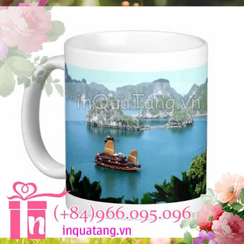 personalised mugs photo mugs personalized travel mugs 1 Personalised mugs travel Ha Long Bay mugs