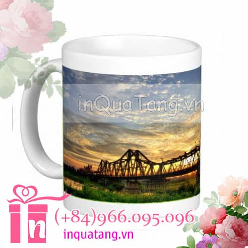 personalised mugs photo mugs personalized travel mugs vietnam 1 Personalised mugs Long Bien Bridge Mugs
